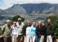 The Boltzes and friends in front of Table Mountain