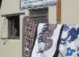 Shopping for Xhosa pottery and fabric at Thobelani